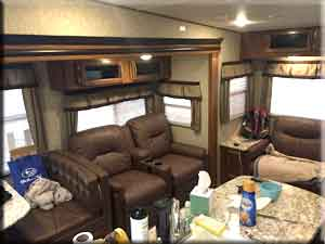 Recliners in RV living room