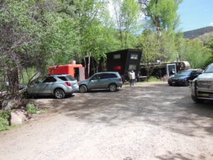 This is the Landark Tiny Home located in the Hideout RV park in Glenwood Springs Colorado