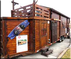 Just two axles support this huge tiny house