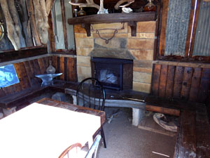 Man-cave with fireplace