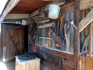 Busy wood shed