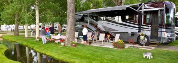 Motor Home in RV Campground